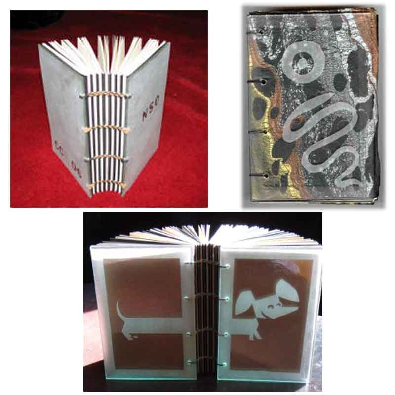 Muse Drilling Glass - Book Examples. Top right by Carol Lamb