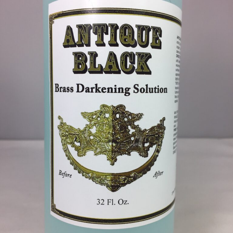 Antique Black Brass Darkening Solution 32 Oz Oxidizer