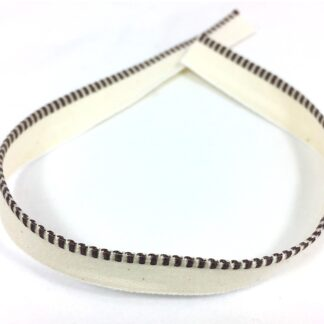 Headband, brown and ivory