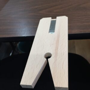 Bench Pin clamped to table