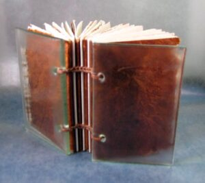 Miniature book with glass cover