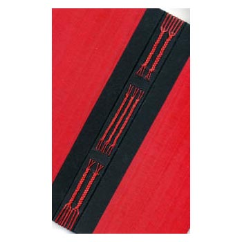 Braided spine journal kit - red moire cover choice