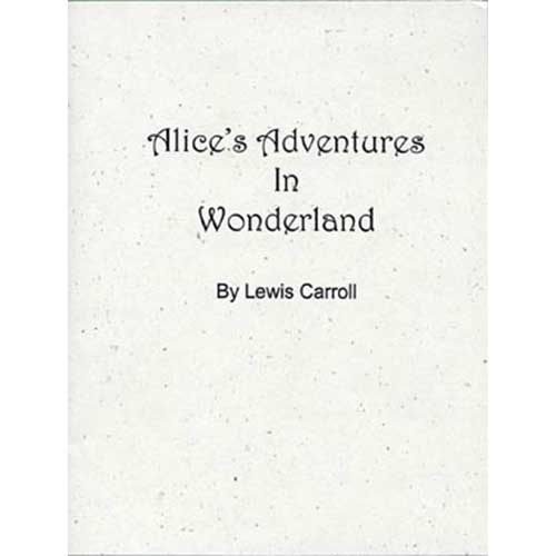 Books in Sheets - Alice's Adventures in Wonderland by Lewis Carroll