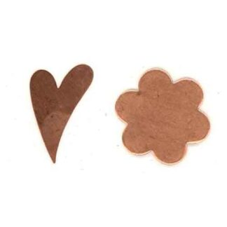 Heart or Flower copper shapes