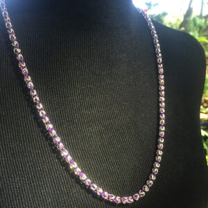 Sterling and niobium necklace