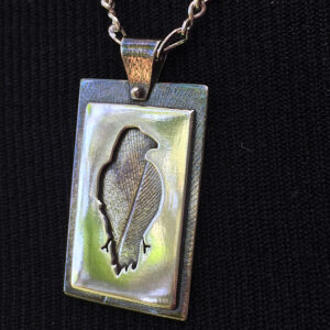 """Sterling silver """"Raven"""" necklace"""