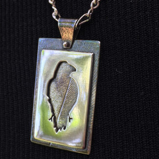 "Sterling silver ""Raven"" necklace"